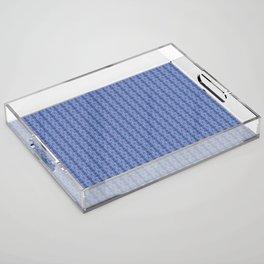 Ikat Purple Acrylic Tray