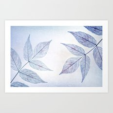 purple leafes Art Print