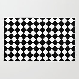 Black Checkerboard - Baby Stimulation Pattern Rug