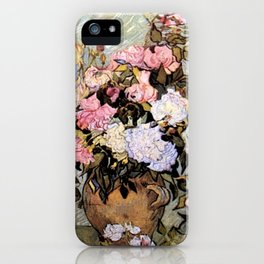 Vincent Van Gogh Vase With Roses iPhone Case
