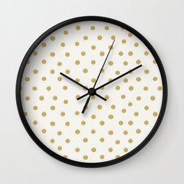 Gold Spots Wall Clock