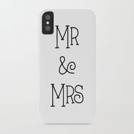Mr &Mrs iPhone Case