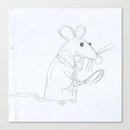 Mouse Scientist  Canvas Print