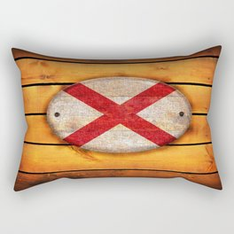 Alabama flag. Rectangular Pillow