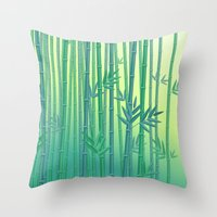 serenity Throw Pillows featuring Serenity by Natalia Linn