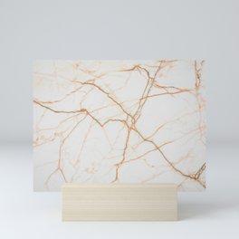 White marble 8 Mini Art Print