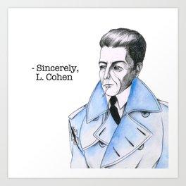 Famous Blue Raincoat Art Print