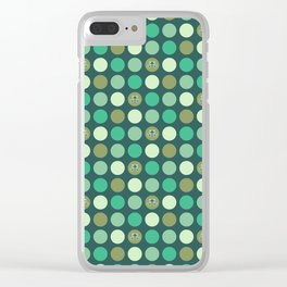Dotty Wildlife - Frogs Clear iPhone Case
