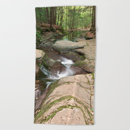 Worlds End Forest Stream Beach Towel