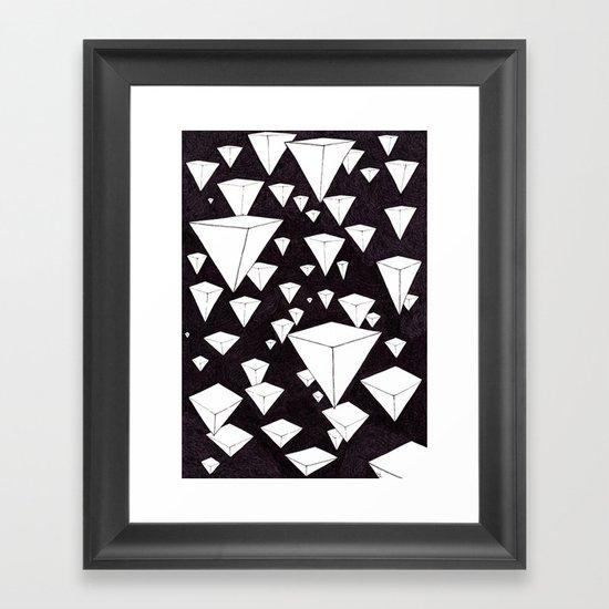 snowing pyramids II Framed Art Print