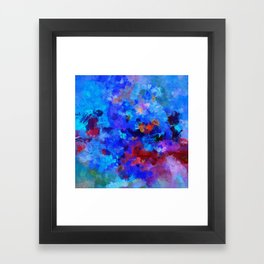 Abstract Seascape Painting Framed Art Print