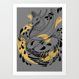 Cidre et Dragon Art Print