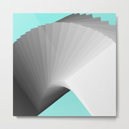 Flying Cards Metal Print