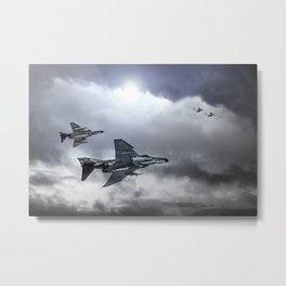 F4 Phantoms - In Pursuit Metal Print