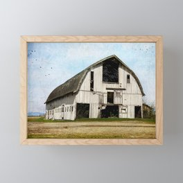 country barn Framed Mini Art Print