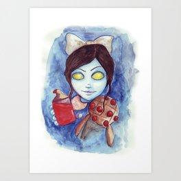 Bioshock - Little sister watercolor Art Print