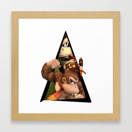 Youtriangle ∆ Donkey Kong Framed Art Print