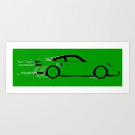 Fast Green Car Art Print