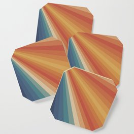 Retro 70s Sunrays Coaster