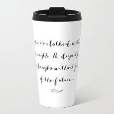SHE IS - B & W Travel Mug