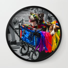 Rolling With Pride Wall Clock