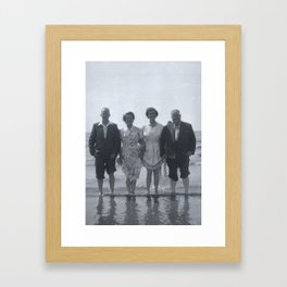 Fun in the british sun (1950's) Framed Art Print