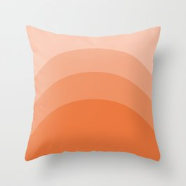 Four Shades of Orange Curved Throw Pillow