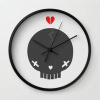 jenna kutcher Wall Clocks featuring HEART BREAKER - ed. fact by PAUL PiERROt