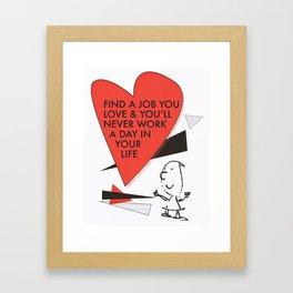 Love Work Awemous Quote Framed Art Print
