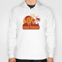 will ferrell Hoodies featuring Stay classy San Diego the anchorman by Buby87