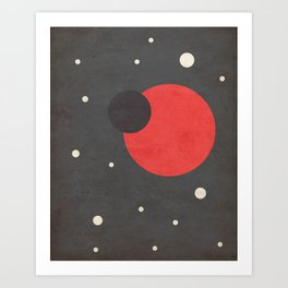 Red- Space is Hot Art Print