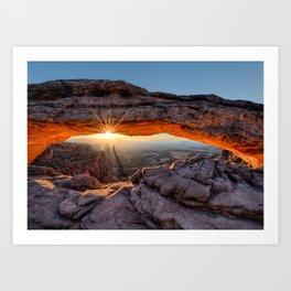 Mesa Arch Sunburst  by Lena Owens Art Print
