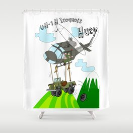 UH-1H Huey Helicopter Shower Curtain