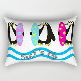 Surfer Penguins Rectangular Pillow