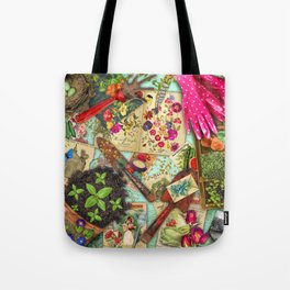 A Vintage Garden Tote Bag