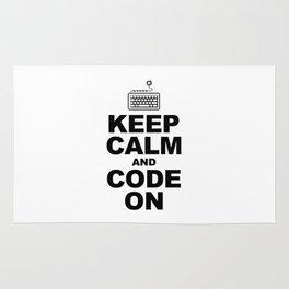 Keep calm and code on Rug