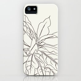Jungle Plant TropicLeavesalineGraphic iPhone Case