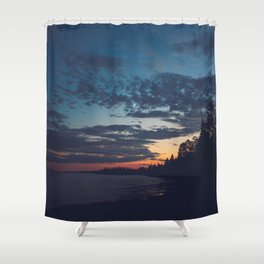 superior sunsets. Shower Curtain