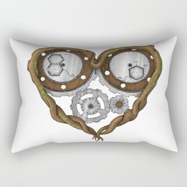 Chemistry of love: dopamine and serotonin formula (Color version) Rectangular Pillow