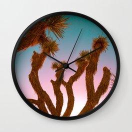 Joshua Tree Desert Sunset Wall Clock