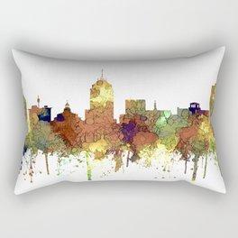 Fresno, California Skyline SG - Safari Buff Rectangular Pillow
