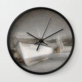 Fishing Boat in Nefyn Wall Clock