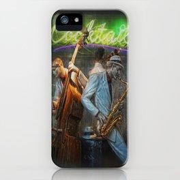 fifties cocktail jazz iPhone Case