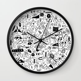 Veeka x Society6 x One & Done  Wall Clock