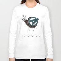 superheros Long Sleeve T-shirts featuring Age of Ultron (Mechanic hand) by Illuminany