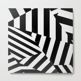 RADAR/ASDIC Black and White Graphic Dazzle Camouflage Metal Print