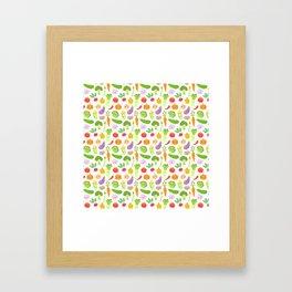 Happy Veggies Framed Art Print