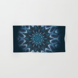Blue Ice Swirl mandala Hand & Bath Towel
