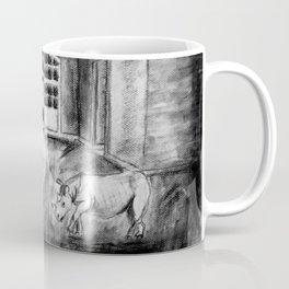 Rhino in abandoned building Coffee Mug
