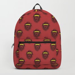 Hipster lion (red) Backpack